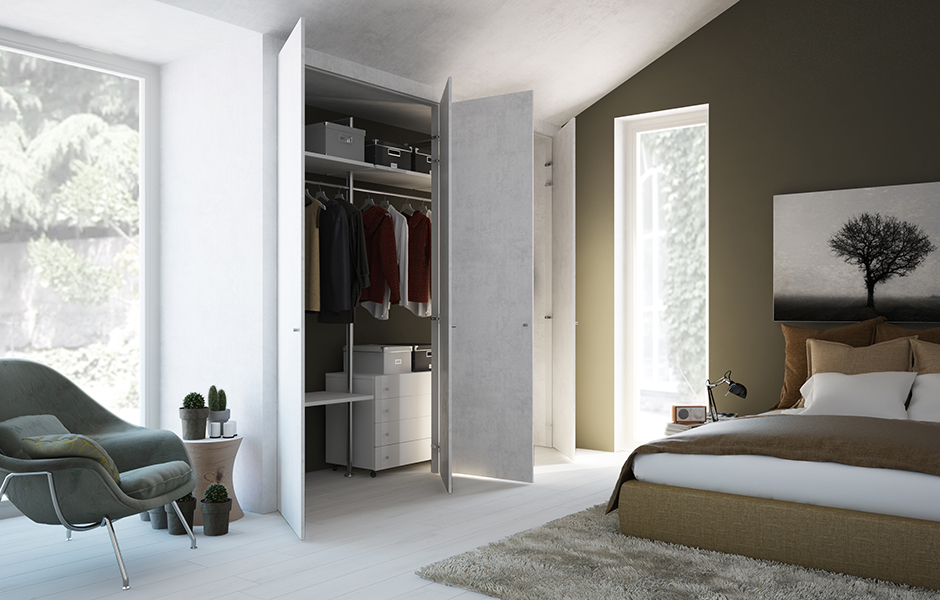 Cabina armadio filo muro: vantaggi e requisiti nell\'arredamento.