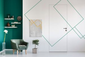 Porte filo muro con carta da parati: 3 idee per la casa.