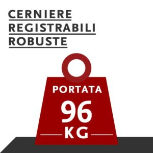cerniere registrabili robuste