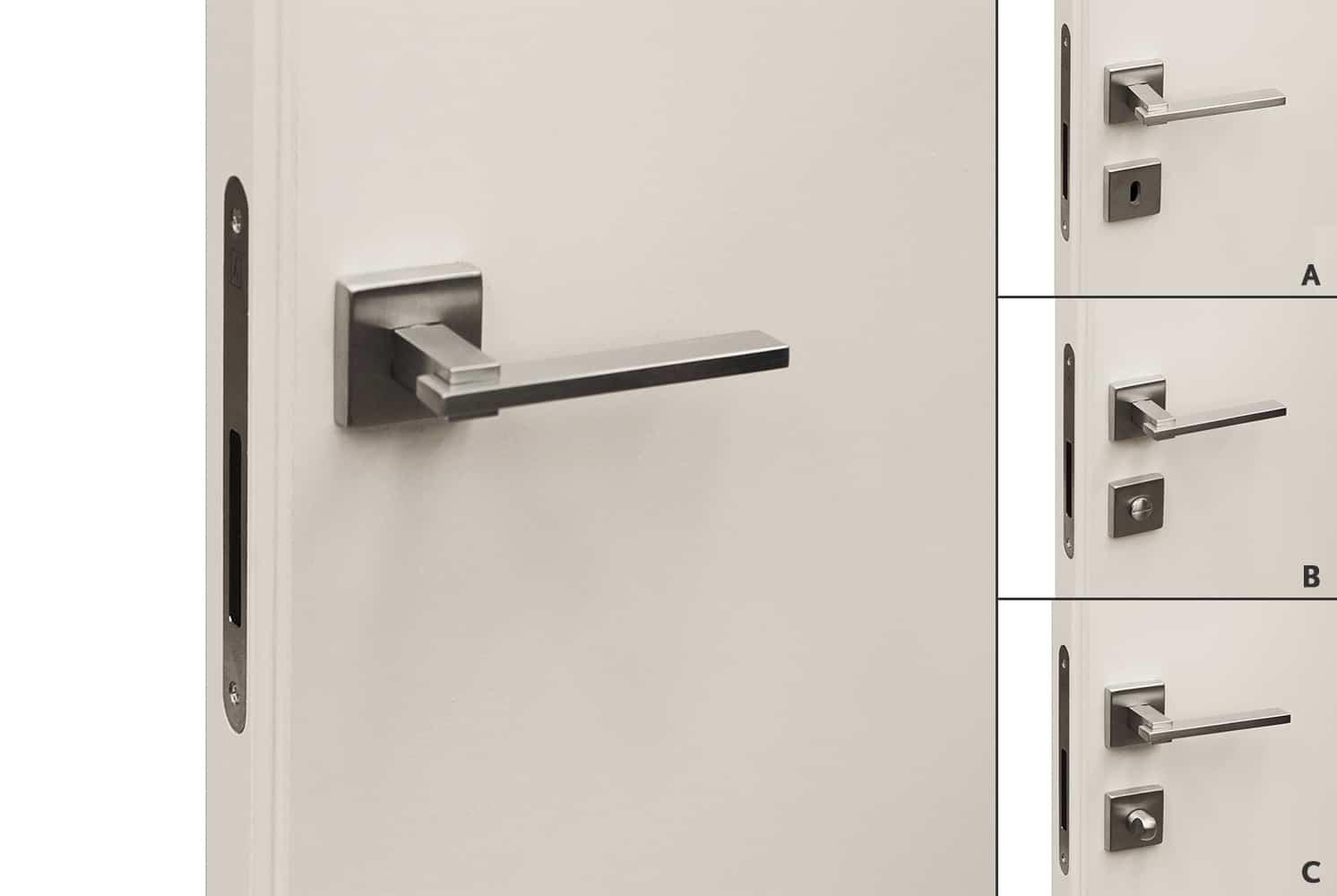 Maniglia Sirio per porte raso parete