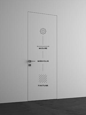 Porta battente standard<br> Misure: 60,70,80  x 210,240,270 cm