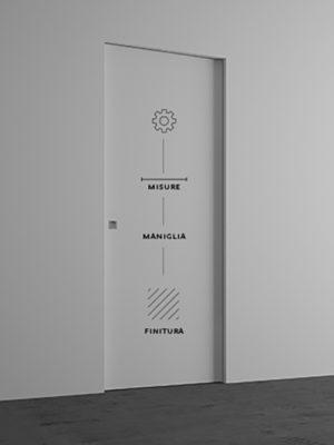 Porta scorrevole standard <br> Misure: 60×210, 70×210 e 80×210 cm